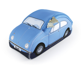 VW Beetle 3D | Neoprene Universele tas | Light Blue