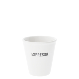Espresso Mok | Paperlook ESPRESSO | Wit/Zwart | Bastion Collections