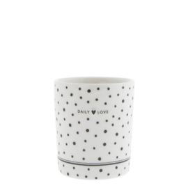 Mok   Dots Daily Love   Wit/Zwart   Bastion Collections