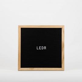 Letterboard M | 30 x 30 | Zwart - Hout