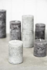 Rustieke Stompkaars | 10 x Ø:7 | Light Grey
