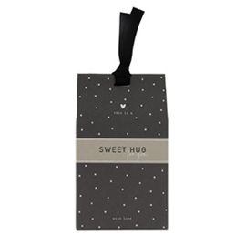 Gift Bag met Pepermunt Hartjes | Sweet Hug | Bastion Collections