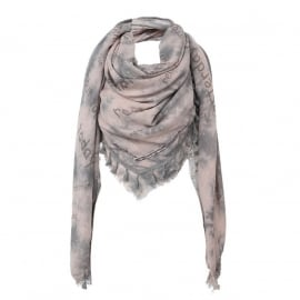 Shawl Remember Roze/Grijs