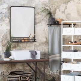 Spiegel met Plank | Zwart Metaal | IB Laursen | Alleen Afhalen