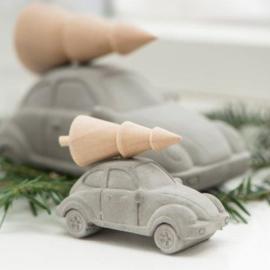 VW Kever | Beton | Kerstboom op het dak | Small
