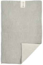 Handdoek | ALTUM | 40 x 60 Gebreid | Grijs | IB Laursen