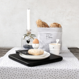 Serving Tray Vierkant Hart Zwart | Medium | Bastion Collections | Uitverkocht