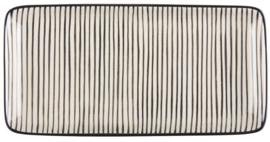Serveerschaaltje | Casablanca Stripes Zwart | Ib Laursen | Tijdelijk Uitverkocht