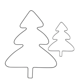 Kerstboom Draad Zwart | Large 99x72 cm | Bastion Collections