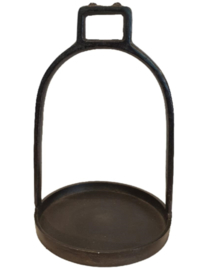 Stijgbeugel Kandelaar | Zwart Metaal | Large