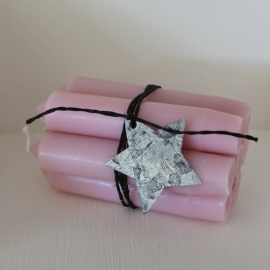 Korte Diner Kaarsjes | Pastel Rose | Set 7 | Ib Laursen