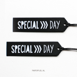 Cadeaulabels | Special Day Zwart | Set 4