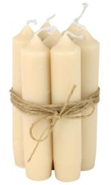 Korte Diner Kaarsjes | Cream | Set 7 | IB Laursen