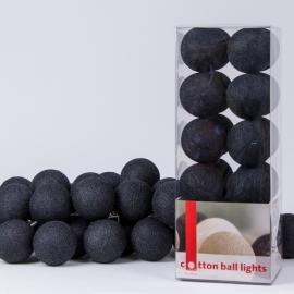 Cotton Ball Lights | Zwart | 20