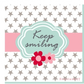 "Servetten Papier ""Keep Smiling"""