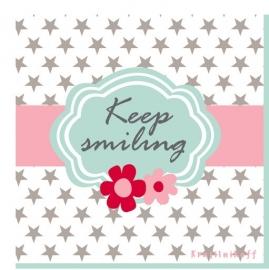 """Servetten Papier """"Keep Smiling"""""""