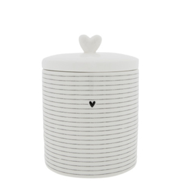 Voorraadpot Stripes  | Large | Wit/Zwart | Bastion Collections