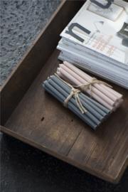 Smalle Lange Kaarsen Ø:1,3  | Set 10 | Dusty Pink | IB Laursen