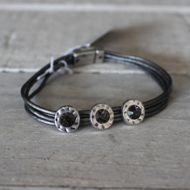 Armband Biba Antiek Zilver Grijs