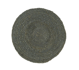 Placemat Rond Jute | Blue Grey | IB Laursen