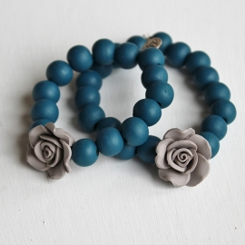 AM Jewelzz Armband Old Blue Large Roos