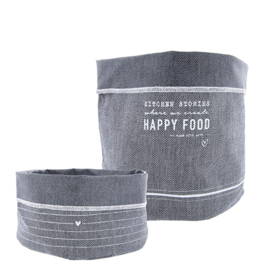 Breadbag | Happy Food | Blueblack | Large | Bastion Collections