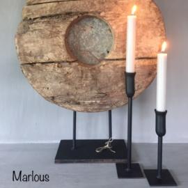 Tafelkandelaar | Marlous  20/30 cm | Zwart | Puur wonen