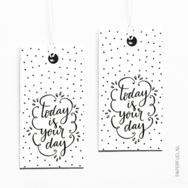 Cadeaulabels | Today is your day | Set 4