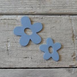 Bloemetjes Hout Set 2 Blauw