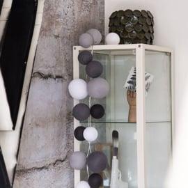 Cotton Ball Lights | Premium | Strong Greys | 20