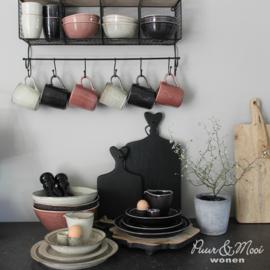 Diner Bord | Antique Black Dunes | Ø:28 cm | IB Laursen | Tijdelijk Uitverkocht