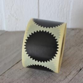 Deco Star Sticker Zwart Set 10