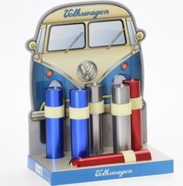 VW | Zaklamp | rood/blauw/zilver