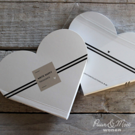 Notitieboekje Hart | Stripe | Happy Toughts | Bastion Collections