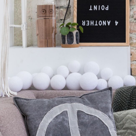 Cotton Ball Lights | Premium | Pure Whites | 20