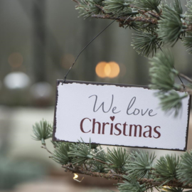 Tekst Bordje | We Love Christmas | IB Laursen