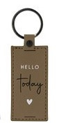 Sleutelhanger   Hello Today   Taupe   Bastion Collections