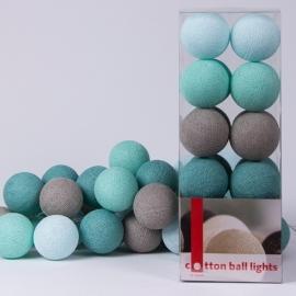 Cotton Ball Lights | Mint | 20
