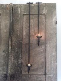 Hangkandelaar Luik   Metaal Zwart   80 cm   Puur wonen