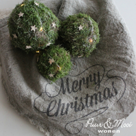 Kerst Shabby Doek | Merry Christmas | 45 x 45
