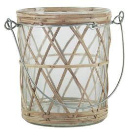 Waxinelichthouder Bamboe | Metalen Hengsel | IB Laursen