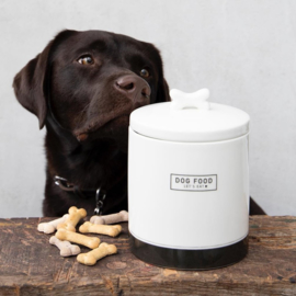 Voorraadpot Dog Food | Large | Wit/Zwart | Bastion Collections