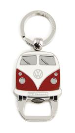 VW Campervan Sleutelhanger & Flesopener Rood