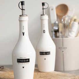 Oil & Vinegar Flessen | Set 2 | Wit/Zwart | Bastion Collections