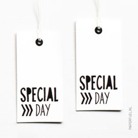 Cadeaulabels | Special Day Wit | Set 4