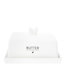 Botervloot | Heart Butter | Wit/Zwart | Bastion Collections
