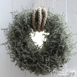 Asparagus Krans Wax Olijf |  Ø:25 cm | Uitverkocht