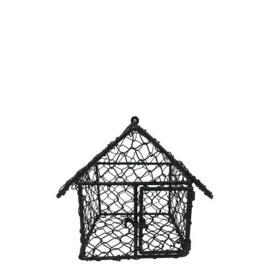 Vogelhuis Draadmandje | Zwart | Bastion Collections