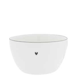 Bowl Large | Ø:15 cm | Wit/Zwart | Bastion Collections