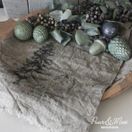 Kerst Shabby Doek | Kerstboom | 30 x 45
